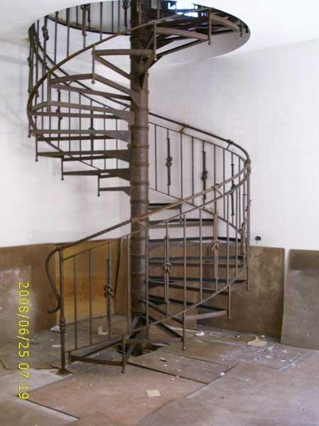 Escalera De Caracol De Forja Ref 10201